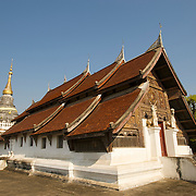 The Wihan of Wat Suchadaram, Lampang. The temple is located at the Wat Phra Kaeo Don Tao site in Lamphang, Thailand and is one of the venerated sites that has been home to the Emerald Buddha in the past.