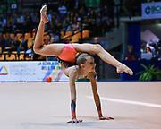 Erica Falcomer atleta della Società Ritmica Nervianese durante la seconda prova del Campionato Italiano di Ginnastica Ritmica.<br /> La gara si è svolta a Desio il 31 ottobre 2015.