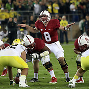 The Stanford Cardinals upset the Oregon Ducks 26-20 at Stanford Stadium.  11/7/13, 3:30pm, Photo by Barry Markowitz