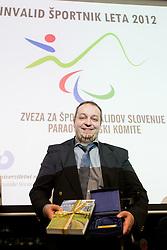 Best sportsmen Francek Gorazd Tirsek during Slovenian Disabled Sports personality of the year 2012 event on December 6, 2012 in Kristalna palace, Ljubljana, Slovenia. (Photo By Vid Ponikvar / Sportida)
