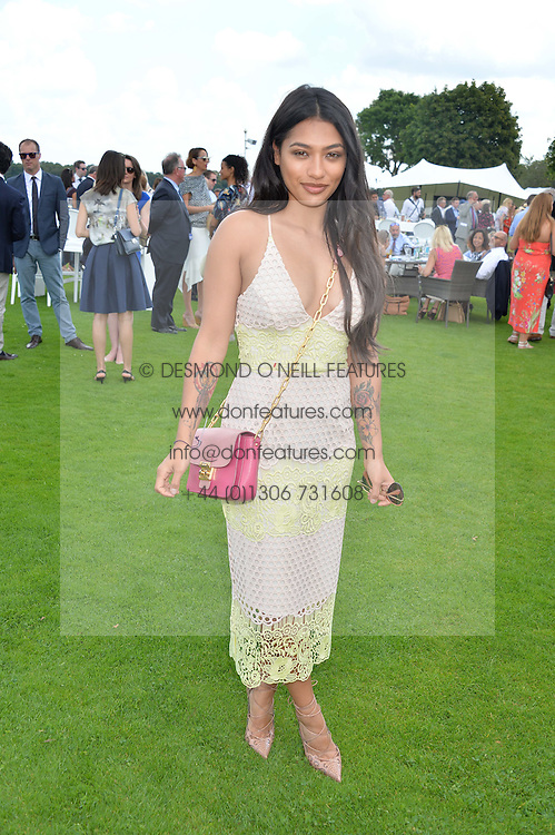 VANESSA WHITE at The Royal Salute Coronation Cup Polo held at Guards Polo Club,  Smiths Lawn, Windsor Great Park, Egham on 23rd July 2016.