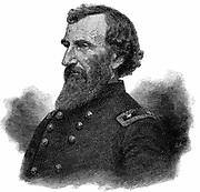 John A McClernand, Major-General in the Federal (northern) Army during American Civil War 1861-1865. Engraving.
