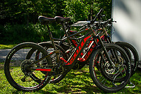 A fleet of Scott EBikes ready to rent for tours around the cross country trails at Gunstock Mountain Resort. (Karen Bobotas/for the Laconia Daily Sun)