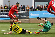 Jobi McAnuff of Leyton Orient (7) scores a goal to make the score 0-2 during the Vanarama National League match between Harrogate Town and Leyton Orient at Wetherby Road, Harrogate, United Kingdom on 22 September 2018.