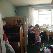 The family of six have been on a council waiting list for a bigger home for over three years.Recently the family has moved the younger children's beds into the living room.