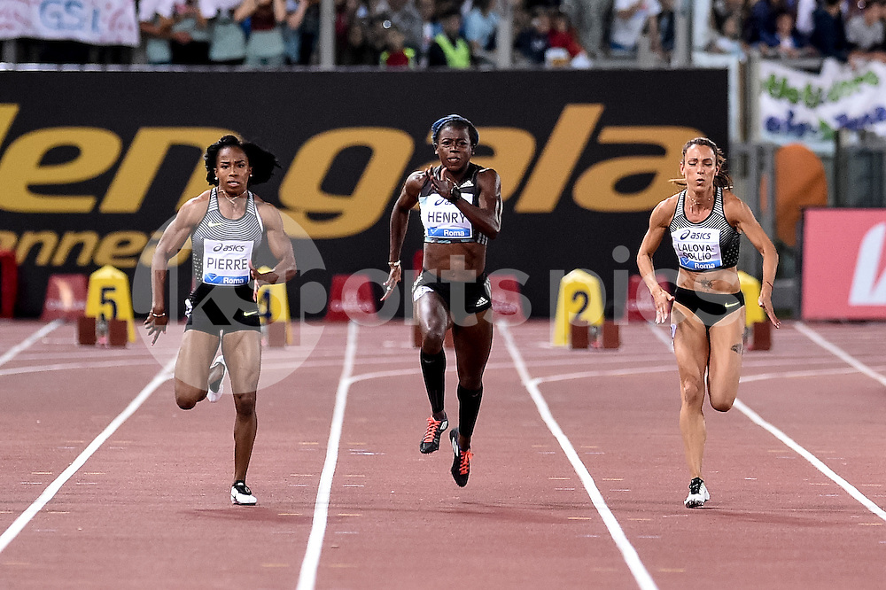 Desiree Henry (GBR) 100 women during the IAAF Diamond League Golden Gala Pietro Mennea at Stadio Olimpico, Rome, Italy on 2 June 2016. Photo by Giuseppe Maffia.