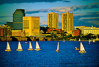Sailboats on the Charles River, Boston, Massachusetts USA