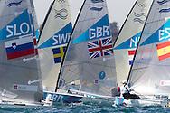 ENGLAND, Weymouth. 5th August 2012. Olympic Games. Finn Class. Medal Race.