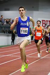 BU Terrier Indoor track meet<br /> Matt Jacobson, Dirigo RC, wins Mile heat