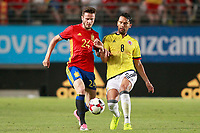 Spain's Saul Niguez (l) and Colombia's Abel Aguilar during international friendly match. June 7,2017.(ALTERPHOTOS/Acero)