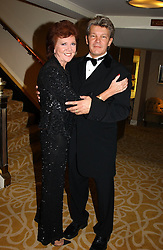 TV presenter CILLA BLACK and RUSS LINDSAY husband of Caron Keating at The Caron Keating Foundation Dinner in honour of the late TV presenter who died in April 2004, held at The Savoy, London on 4th October 2004.<br /><br />NON EXCLUSIVE - WORLD RIGHTS