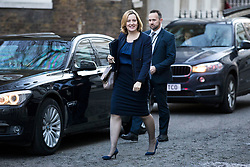© Licensed to London News Pictures. 18/12/2017. London, UK. Home Secretary Amber Rudd arrives on Downing Street for a special Cabinet meeting in which ministers are expected to discuss the Brexit end deal. Photo credit: Rob Pinney/LNP