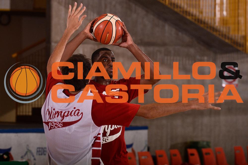 Jamel McLean <br /> EA7 Emporio Armani Olimpia Milano allenamento<br /> Lega Basket Serie A 2016/2017<br /> Bormio 25/08/2016<br /> Foto Ciamillo-Castoria