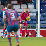 Dundee keeper Scott Bain celebrates after saving Inverness' Billy McKay's penalty - Inverness Caledonian Thistle v Dundee in the Ladbrokes Scottish Premiership at Caledonian Stadium, Inverness.Photo: David Young<br /> <br />  - &copy; David Young - www.davidyoungphoto.co.uk - email: davidyoungphoto@gmail.com