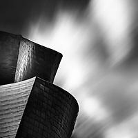 Long exposure of Guggenheim Bilbao museum