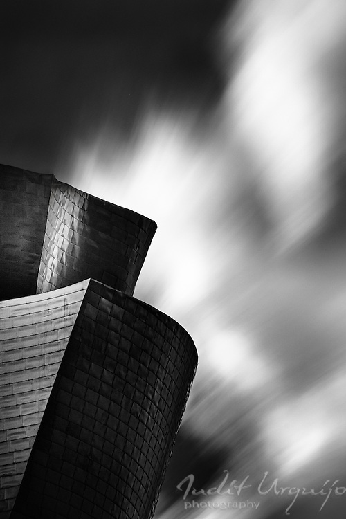 Long exposure of Guggenheim Bilbao museum