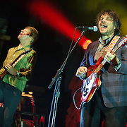 COLUMBIA, MD, -September 25th, 2011 - Nels Cline and Jeff Tweedy of Wilco performs at Merriweather Post Pavilion. Wilco will release their eight studio album, The Whole Love, on Tuesday. (Photo by Kyle Gustafson/For The Washington Post).