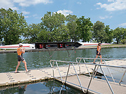 The boats, crew, and spectators who participated in the Lincoln Park Boat Club's 37th Annual Chicago Sprints Regatta