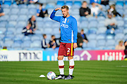 Adam Thompson (2) of Bradford City warming up before the EFL Sky Bet League 1 match between Portsmouth and Bradford City at Fratton Park, Portsmouth, England on 28 October 2017. Photo by Graham Hunt.