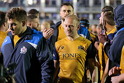 Shane Geraghty of Bristol Rugby looks frustrated after a 22-6 loss - Rogan Thomson/JMP - 20/10/2016 - RUGBY UNION - The Recreation Ground - Bath, England - Bath Rugby v Bristol Rugby - EPCR Challenge Cup.