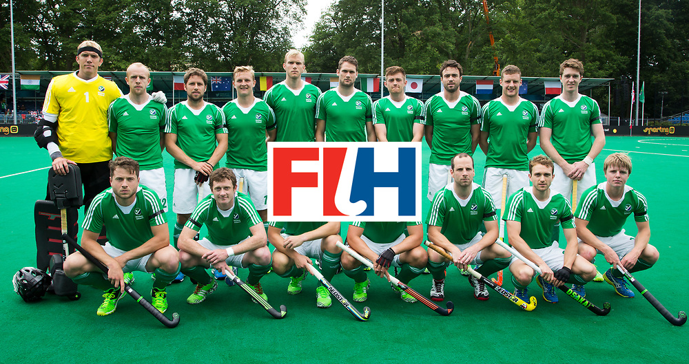 ANTWERP -    Irish team before   the match between  the men of Great Britain and Ireland (2-2)  WSP COPYRIGHT KOEN SUYK