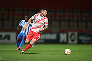 Stevenage midfielder Jack King (4) during the EFL Trophy match between Stevenage and Brighton and Hove Albion at the Lamex Stadium, Stevenage, England on 4 October 2016.