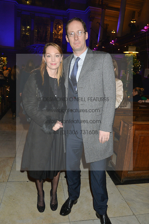 ANTHEA HARRIES and JAMES COOKSEY from The Crown Estate at the Quintessentially Foundation and The Crown Estate's Fayre of St.James' on 27th November 2014.  The evening started with a christmas concert at St.James's Church, Piccadilly.  Following the concert singer Leona Lewis switched on the Jermyn Street Christmas lights and then guests had a party at the newly refurbished Quaglino's, 16 Bury Street, London