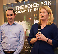 Repro  Free: Fidelity Investments Roisin Burke and Kieran Flesk  at  ITAG Members Update evening where some of the Nominees pitched their projects.   <br /> The ITAG Excellence Awards will take place on  November 17th Hotel Meyrick, Eyre Square, Galway.<br /> Winners in the following categories will be announced: <br />     New Talent of the Year Award<br />     Digital Woman Awards<br />     Emerging Technology Start Up Award<br />     Leadership Award<br />     Technology Innovation of the Year Award<br />     Digital Project Award<br />     ITAG Digital Enterprise Award &lt; 50 Employees<br />     ITAG Digital Enterprise Award &gt; 50 Employees.<br />  <br />  Photo:Andrew Downes, xposure.