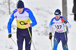 RESHETYNSKYI Iaroslav Guide: YAREMENKO K, UKR, B2 at the 2018 ParaNordic World Cup Vuokatti in Finland