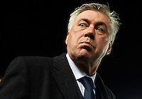 ELCHE, SPAIN - FEBRUARY 22:  Real Madrid manager Carlo Ancelotti looks on before the La Liga match between Elche FC and Real Madrid at Estadio Manuel Martinez Valero on February 22, 2015 in Elche, Spain.  (Photo by Manuel Queimadelos Alonso/Getty Images)