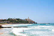 Israel, Old Jaffa as seen from north from the Tel Aviv Beach