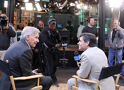 15.08.2013, New York, USA, ABC Show, Good Morning Amerika, im Bild Actor Harrison Ford interviewed by George Stephanopoulos // during the ABC Show Good Morning Amerika in New York, Unites States of Amerika on 2013/08/15. EXPA Pictures © 2013, PhotoCredit: EXPA/ Newspix/ MediaPunch Inc<br /> <br /> ***** ATTENTION - for AUT, SLO, CRO, SRB, BIH, TUR, SUI and SWE only *****