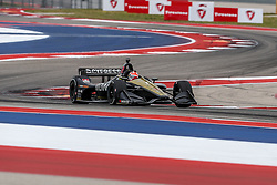 March 23, 2019 - Austin, Texas, U.S - Schmidt Peterson Motorsports driver James Hinchcliffe (5) of Canada in action during the practice round at the Circuit of the Americas racetrack in Austin,Texas. (Credit Image: © Dan Wozniak/ZUMA Wire)