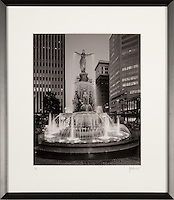 Framed photograph of Tyler Davidson Fountain on Fountain Square. Framed sizes vary, select at purchase screen.