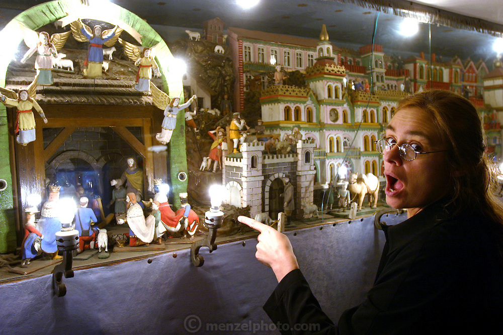 In a private home on the edge of Kudowa-Zdroj, Poland (famous for spas and the Chapel of Skulls), an automated biblical scene was built for tourists. Visitor Faith D'Aluisio can't believe it. Built by artist Frantisek Stephan from 1896 to 1924.