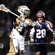 John Ranagan #31 of the Rochester Rattlers controls the ball during the game at Harvard Stadium on August 9, 2014 in Boston, Massachusetts. (Photo by Elan Kawesch)