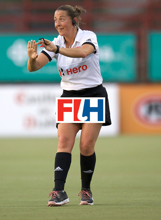 SANTIAGO - 2016 8th Women's Hockey Junior World Cup<br /> 32 JPN v CHI (9 / 12 Place)<br /> foto: Umpire Susi  Sutton (USA)<br /> FFU PRESS AGENCY COPYRIGHT FRANK UIJLENBROEK