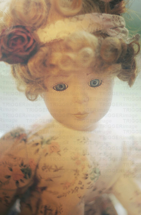 Close up of vintage child's toy doll