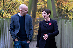 The Duchess of Northumberland with Searcys managing director Matt Thomas in Alnwick Garden. The firm, founded in 1847 by the Duke of Northumberland's pastry chef John Searcy, has signed a deal to cater at the Alnwick Garden and Treehouse, a visitor attraction founded by the duchess.