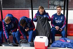 Dani de Wit of Ajax, Mateo Cassierra of Ajax, Siem de Jong of Ajax, Joel Veltman of Ajax during the Dutch Eredivisie match between Sparta Rotterdam and Ajax Amsterdam at the Sparta stadium Het Kasteel on March 18, 2018 in Rotterdam, The Netherlands