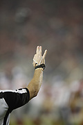 An NFL official in action during the San Francisco 49ers NFL week 10 regular season football game against the New York Giants on Monday, Nov. 12, 2018 in Santa Clara, Calif. The Giants won the game 27-23. (©Paul Anthony Spinelli)