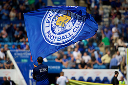 LEICESTER, ENGLAND - Saturday, September 1, 2018: A Leicester City flag before the FA Premier League match between Leicester City and Liverpool at the King Power Stadium. (Pic by David Rawcliffe/Propaganda)
