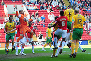 London - Saturday, April 17th 2010: Michael Nelson of Norwich City scores the opening goal during the Coca Cola League One match at The Valley, Charlton...(Pic by Alex Broadway/Focus Images)