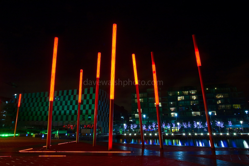 Martha Schwartz designed art at Grand Canal Square, Dublin
