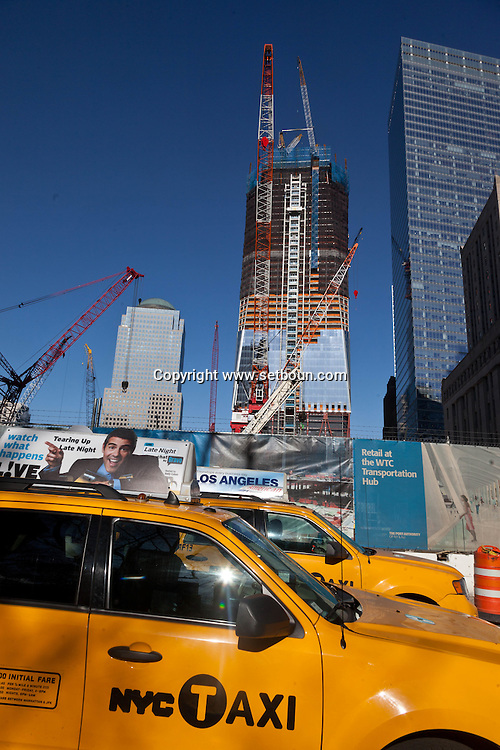 New York, Freedom tower building under contruction,, World trade center area under reconstruction  WTC , United States