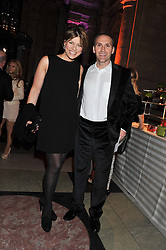KATE SILVERTON and MIKE HERON at the 50th birthday party for Jonathan Shalit held at the V&A Museum, London on 17th April 2012.