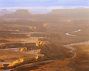 0303-1095 ~ Copyright: George H.H. Huey ~ Canyonlands National Park with the Green River, from the Needles Overlook, Island in the Sky.  Utah.