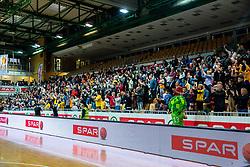 Spectators during basketball match between KK Sixt Primorska and KK Hopsi Polzela in final of Spar Cup 2018/19, on February 17, 2019 in Arena Bonifika, Koper / Capodistria, Slovenia. Photo by Vid Ponikvar / Sportida