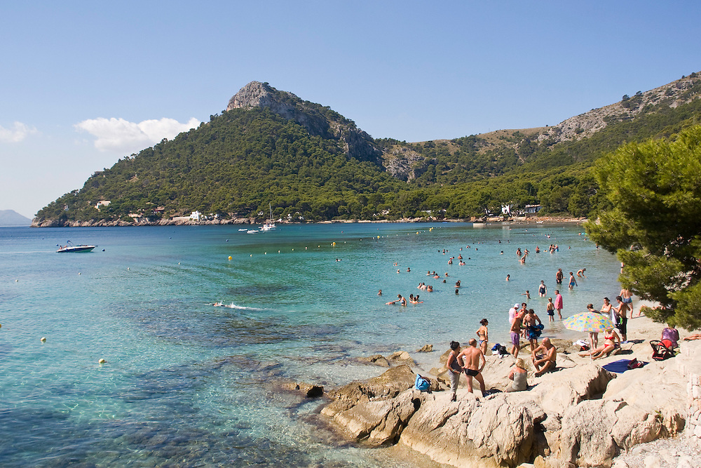(Formentor, Spain - September 9, 2011) - The beach in Formentor on the northeastern tip of Mallorca. Photo by Will Nunnally / Will Nunnally Photography