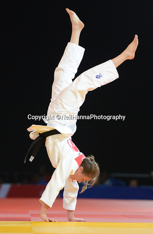 Commonwealth Games, Glasgow 2014<br /> SECC Judo<br /> -57kg Womens Final<br /> <br /> Stephanie Inglis celebrates winning Gold<br /> <br /> <br /> <br />  Neil Hanna Photography<br /> www.neilhannaphotography.co.uk<br /> 07702 246823
